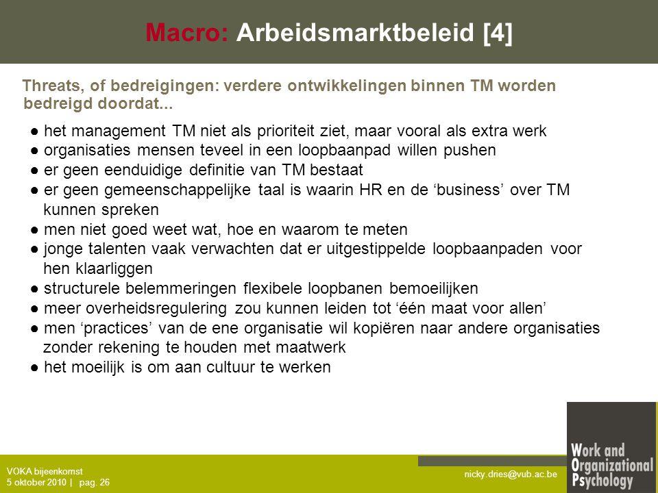 Macro: Arbeidsmarktbeleid [4]